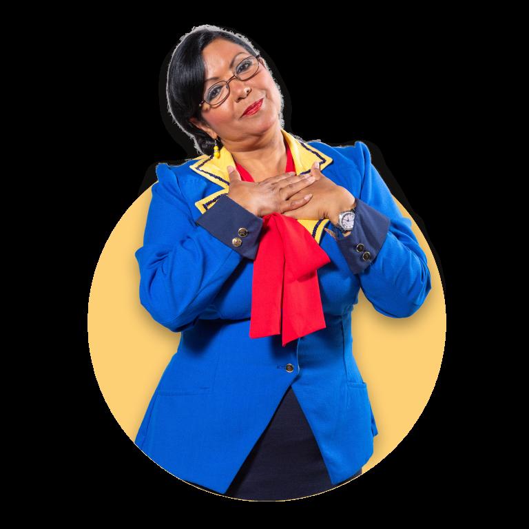 Doña Aurora, Representante de ventas