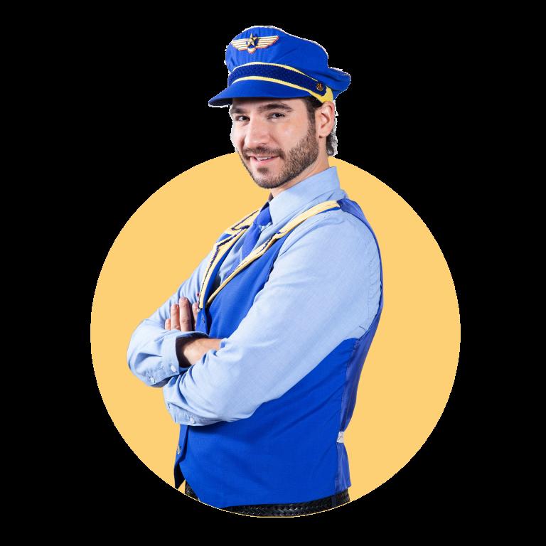 Jeffy, Auxiliar de vuelo