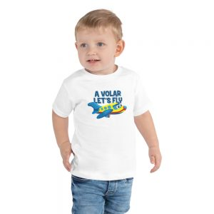 A Volar Let's Fly Toddler Short Sleeve Tee